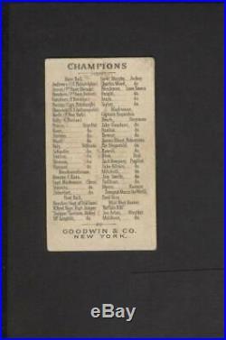 1888 N162 Goodwin & Co Old Judge Tobacco Buffalo Bill Cody NO Creases