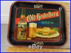 1920s VINTAGE BLATZ OLD HEIDELBERG'BREW' AAW TRAY/SIGN-MILWAUKEE-10x13-NICE