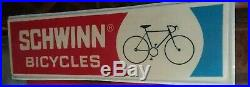 1970s OG Schwinn Dealership Sign 97x30 Old School BMX Road Bike Tour MTB