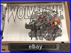 1987 Wolverine Poster Frank Miller Art Marvel Comics Retail New Old Stock ++