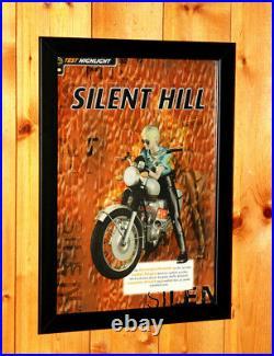 1999 Silent Hill Vintage PS1 Konami Very Rare Promo Poster / Ad Art Framed