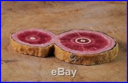 2.8 Pink RHODOCHROSITE Crystal Stalactite Slice Argentina Old Stock Raw 38290