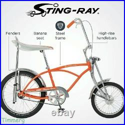 2020 Schwinn Classic Old School Orange Krate 20 Bike Ape Handlebar & Banana Set