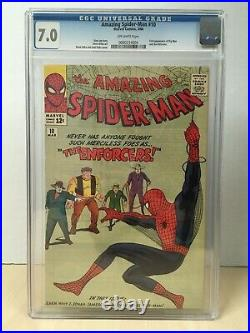 Amazing Spider-Man #10 (1964) CGC 7.0 Old Label Off-White Pages Very Nice