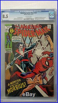 Amazing Spider-Man #101 CGC 8.5 VF+ 1st App Morbius Old Label