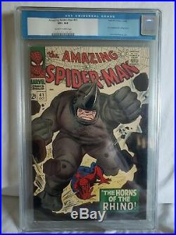 Amazing Spider-Man #41 CGC 8.5 VF+ 1966 1st App Rhino CGC Old Label