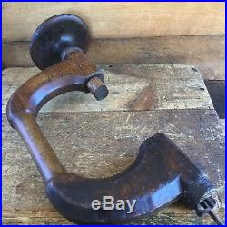 Antique EARLY SPOON BIT COOPERS BRACE 10 Vintage Old Drill Hand Tool #152