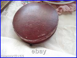 Antique Jewellery football gold buttons old case box vintage Mens Dress Jewelry