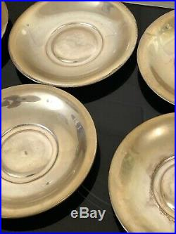 Antique Old Tea Coffee Cups Set of 8 Italian Silver 800,317 Grams Not Scrap