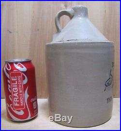 Antique SCHWARZ PATERSON NJ 1/2 Gal Liquor Stoneware Pottery Jug Not to Be Sold