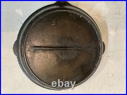 Antique Sperry Cast Iron 10 Skillet With Heat Ring July 26 1887 Gate Mark I OLD