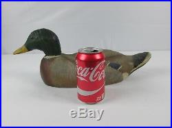 Antique Vintage Wood Duck Decoy Old Wooden Mallard Duck Collectible Decoy NICE