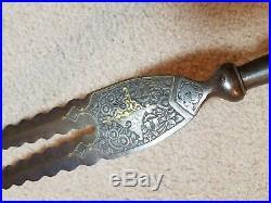 Antique old India indopersian bident spear head not tulwar sword