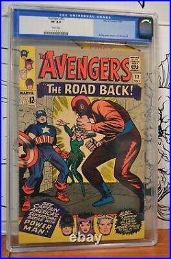 Avengers #22 CGC 8.0 Captain America Power Man Enchantress 1965 Old Label