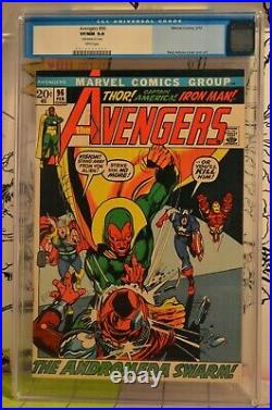 Avengers #96 CGC 9.0 Classic Neal Adams Cover Old Label