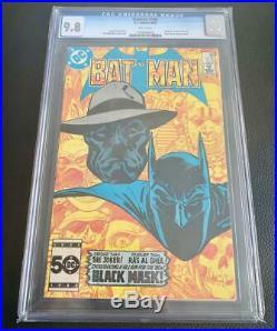 Batman 386 CGC 9.8 NM/MT 1985 White Pages Old Case Unpressed 1st Black Mask
