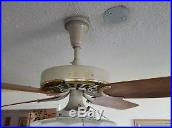Brand New 60 yr old Hunter Ceiling Fan with Art Deco 6 Light Fitter 3 Speed