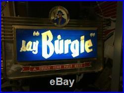 Burgie Burgermeister old vintage lighted Beer Sign not Hamms