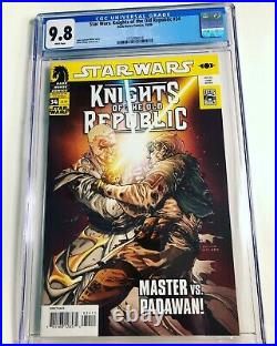 CGC 9.8 Star Wars Knights of the Old Republic #34 1st Darth Sion White Pages