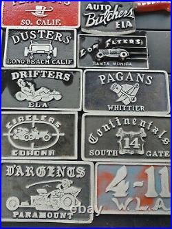 Car Club Plaque Lot 25 Plates