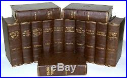 Charles Dickens 13 BOOK Collection BROWN COLLECTION C1930's Vintage 86 YRS OLD