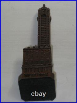 Collectible Old Singer Sewing Machine Tower, Building Paper Weight