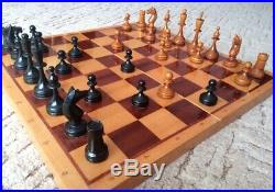 Collectible vintage soviet chess set antique old made in USSR 1960s chess