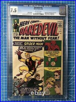 Daredevil #1 CGC 7.5 1st Appearance Old Label Never Cleaned/pressed CPR ready