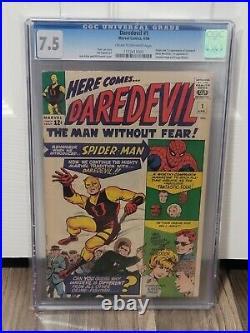 Daredevil #1 CGC 7.5 1st app Matt Murdock, Karen Page, Foggy Old label