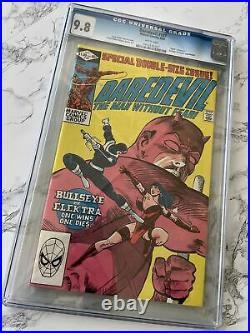 Daredevil #181 CGC 9.8 NM/MT Old Label Key Death of Elektra Marvel 1982