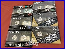 Denon Audio Cassette Tape Lot Collection New Old Stock