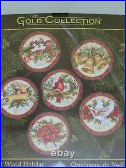 Dimensions Gold Collection Old World Holiday Ornaments Cross Stitch Kit #8813