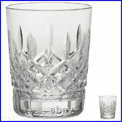 Double Old Fashioned Glass Lismore Collection 12 Oz Crystal Clear Whiskey Rocks