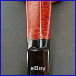 FORMER HANDMADE DENMARK Tobacco Briar Bulldog Pipe with Original Pouch