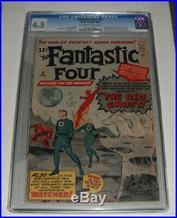 Fantastic Four # 13. CGC Universal slab 4.5 VG+ grade-old D. CC. 1963 comic