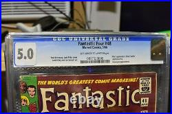 Fantastic Four #48 CGC 5.0 Old Label Marvel 1966 1st App Silver Surfer Galactus