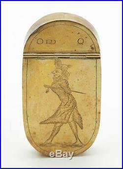 Fine Antique Engraved Old Q William Douglas Snuff Box 18 C