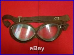 Former Japanese Army Aviation goggles flight cap Free Shipping from Japan