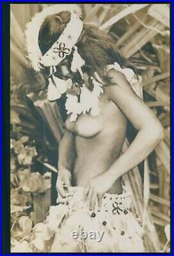 France Adolphe Sylvain TAHITI nude woman original vintage old 1960s photo a9