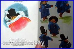 Gabrielle Design Paddington Bear all original collectable + vintage book old toy