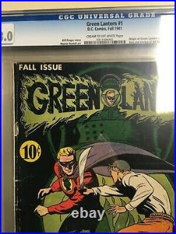 Green Lantern 1941 #1 CGC 3.0 Golden Age Old Label Classic Cover