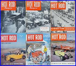 HOT ROD MAGAZINE 1951 ScTa Bonneville 1932 Ford Flatead Drag RACING vtg old auto