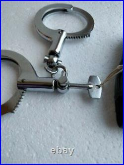 Handcuffs China (Japan/Korea) Police, 90s Old, NOT Modern, One Key, With Case