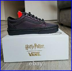 Harry Potter Shoes Vans Old Skool Deathly Hallows Trainers UK 7 Rare collection