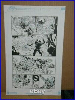 Humberto Ramos original art Extraordinary X-men #4 Page 16 Old Man Logan
