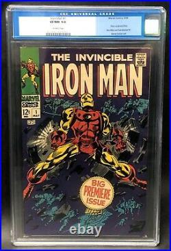 Iron Man #1 CGC 9.0 NM. Marvel Comics Origin of Iron Man! Old Label
