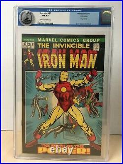 Iron Man #47 (1972) CGC 9.4 Pacific Coast Pedigree Classic Cover Old Label NM