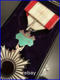 Japanese Army Medal Golden Kite 4-piece set collection WW2 Former #24