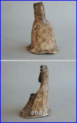 Japanese Old Guan Yin Buddha Maria Kakure Kirishitan / H 16 cm / Edo Period