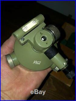 Kern Aarau Optical Plummet Old Surveyor Swiss made, unique